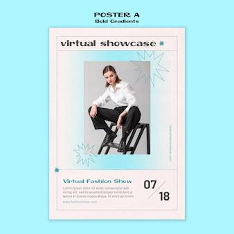 Modèle d'affiche de vitrine virtuelle