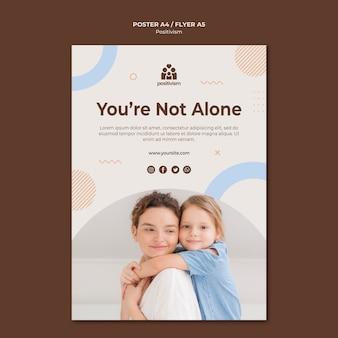 Modèle d'affiche vous n'êtes pas seul