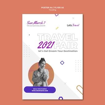 Modèle d'affiche de voyage