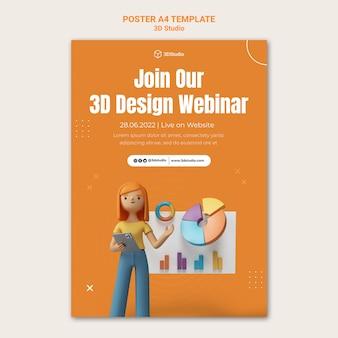 Modèle d'affiche de webinaire de conception