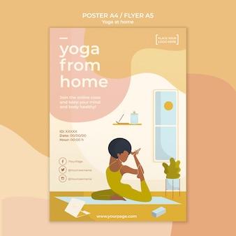 Modèle d'affiche de yoga