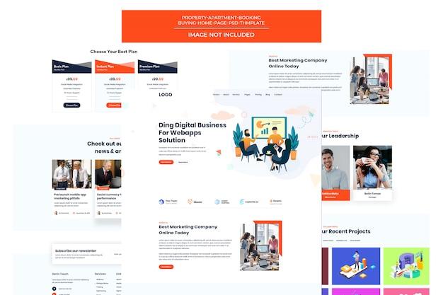 Modèle d'agence de conception web