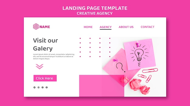 Modèle d'agence de création de page de destination