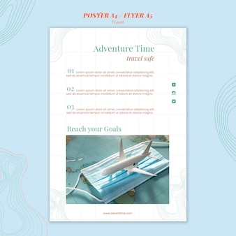 Modèle d'agence de voyage affiche