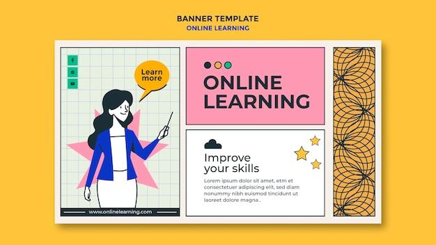 Modèle d'annonce d'apprentissage en ligne de bannière