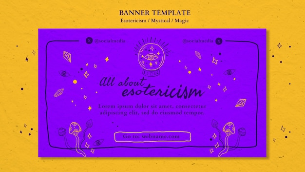 Modèle d'annonce de bannière ésotérisme