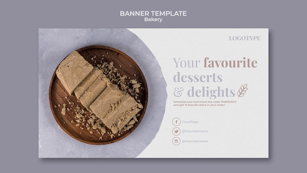 Modèle d'annonce de boulangerie de bannière