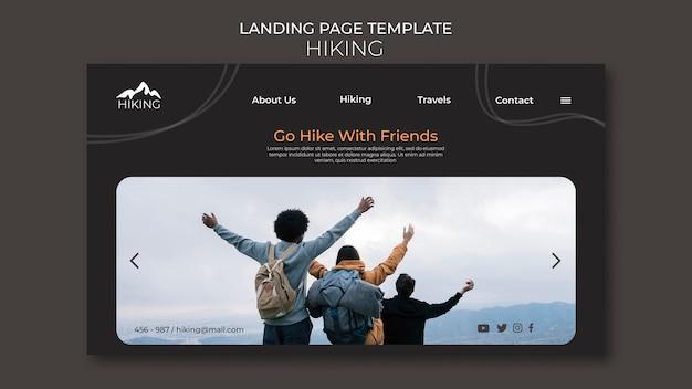Modèle d'annonce de randonnée sur la page de destination