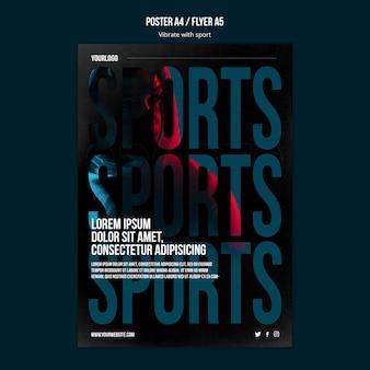 Modèle d'annonce de sport affiche