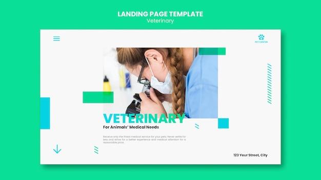 Modèle d'annonce vétérinaire de page de destination