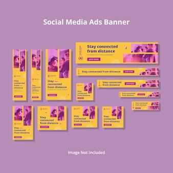 Modèle d'annonces minimalistes sur les réseaux sociaux