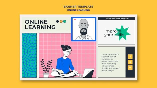 Modèle d'apprentissage en ligne de bannière