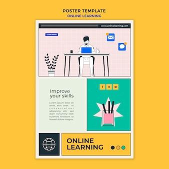 Modèle d'apprentissage en ligne flyer