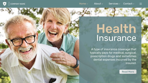 Modèle d'assurance maladie psd avec texte modifiable