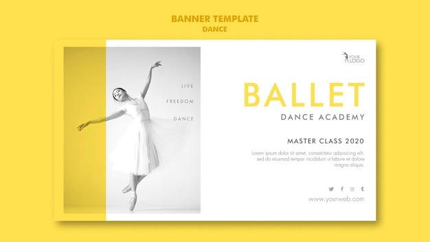 Modèle de bannière de l'académie de danse