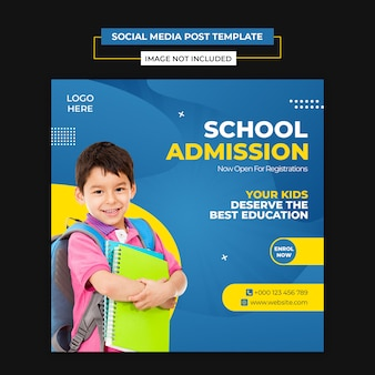 Modèle de bannière d'admission à l'école