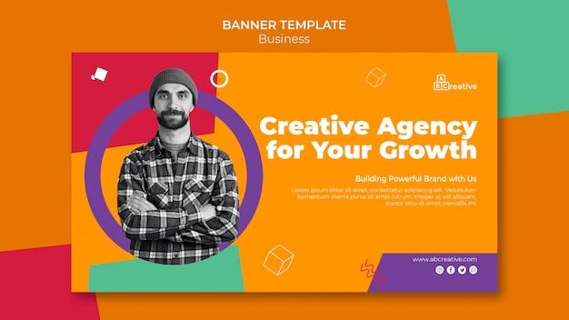 Modèle de bannière d'agence créative