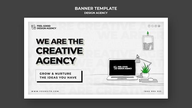 Modèle de bannière d'agence de design