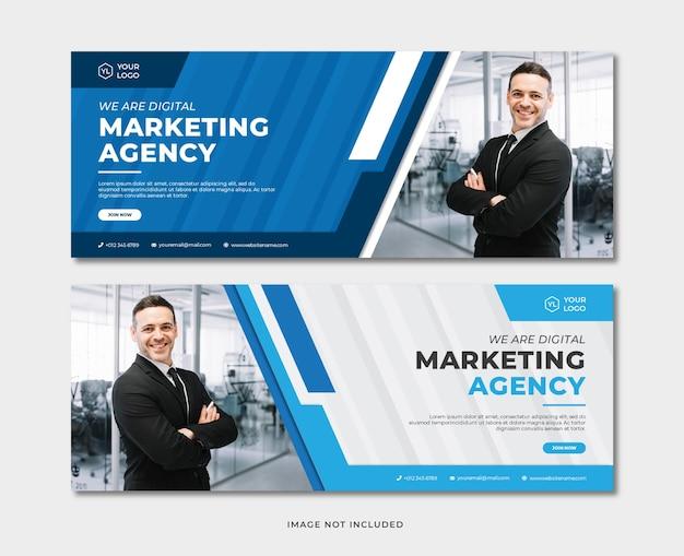 Modèle de bannière d'agence de marketing numérique professionnelle