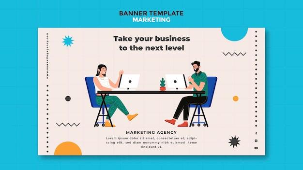 Modèle de bannière d'agence de marketing