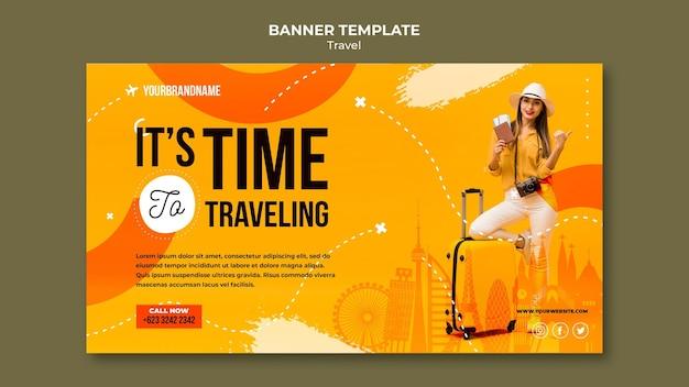 Modèle de bannière d'agence de voyage