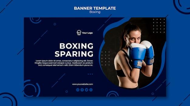Modèle de bannière d'ajustement d'entraînement de boxe