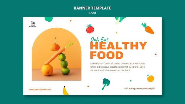 Modèle de bannière d'aliments sains