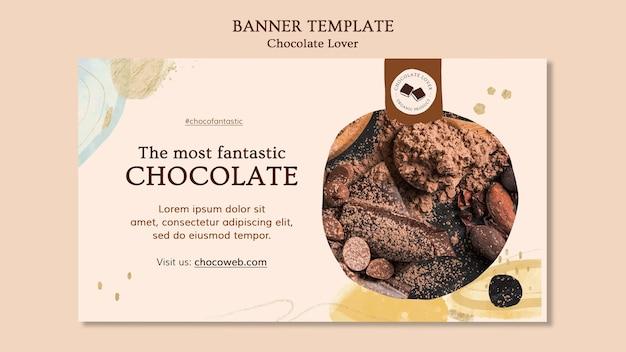 Modèle de bannière d'amant de chocolat