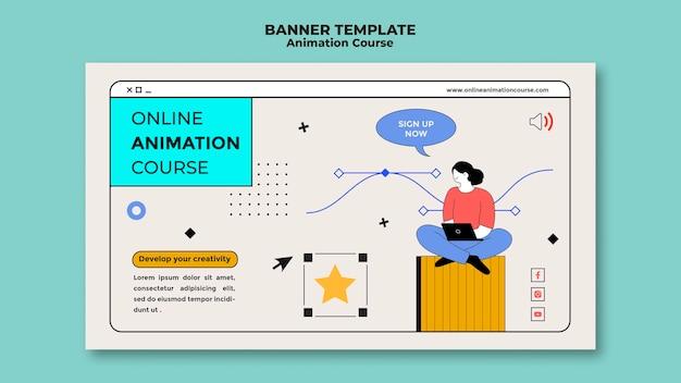 Modèle de bannière d'animation d'apprentissage