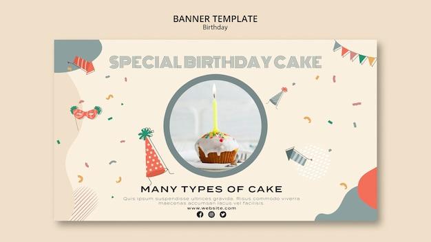 Modèle de bannière d'anniversaire spécial