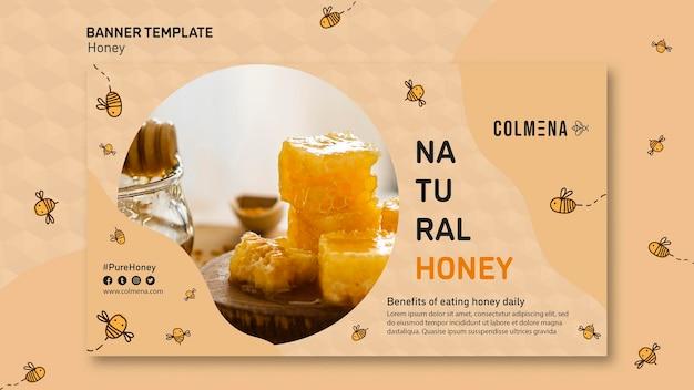 Modèle de bannière annonce de magasin de miel