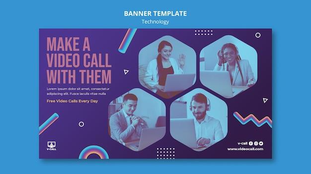 Modèle de bannière d'appel vidéo