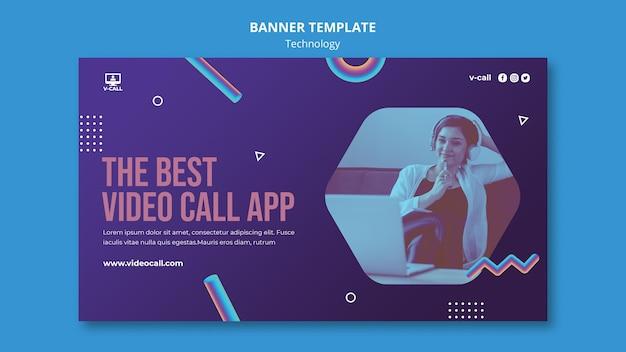 Modèle de bannière d'application d'appel vidéo
