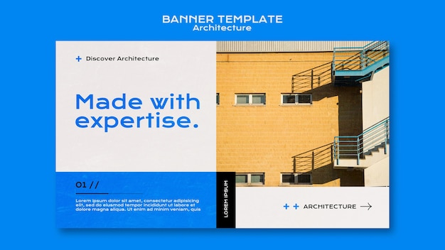 Modèle de bannière d'architecture