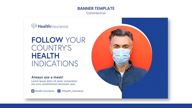 Modèle de bannière d'assurance maladie