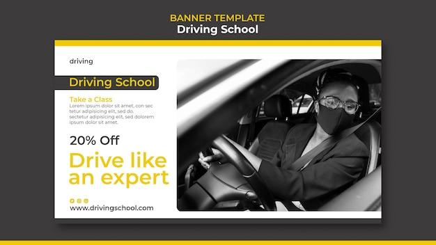 Modèle de bannière d'auto-école
