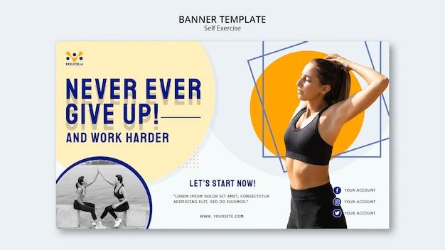 Modèle de bannière d'auto-exercice