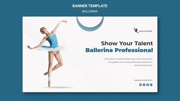 Modèle de bannière de ballerine