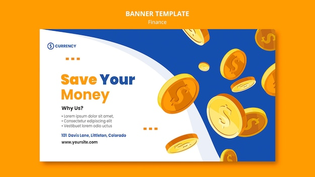 Modèle de bannière de banque en ligne