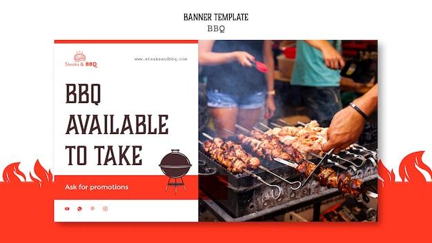 Modèle de bannière avec barbecue