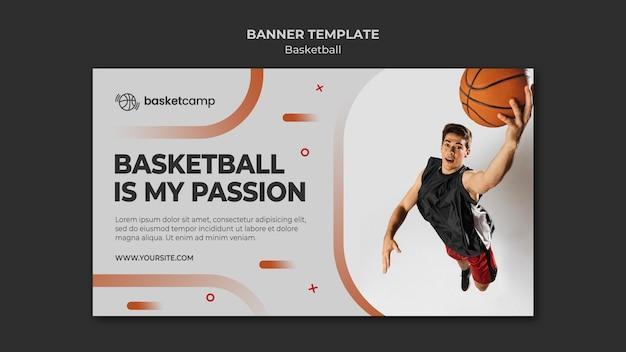 Modèle de bannière de basket-ball est ma passion