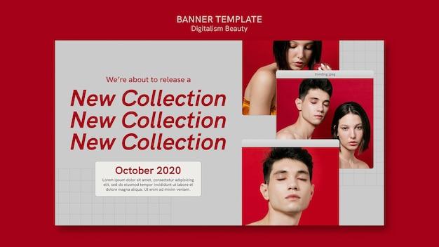 Modèle de bannière de beauté numérique créatif