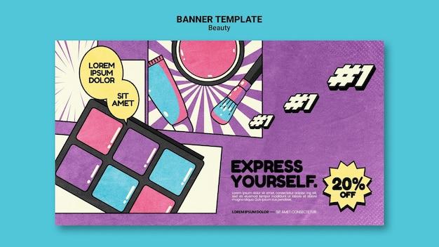 Modèle de bannière de beauté pop art