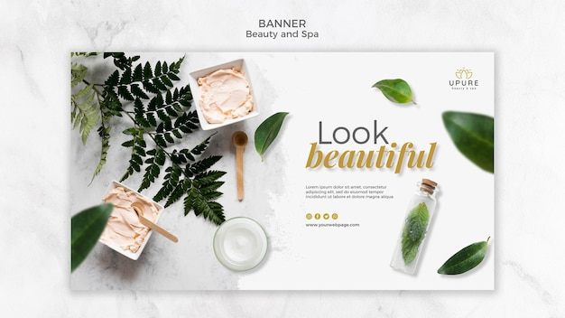 Modèle de bannière de beauté et spa