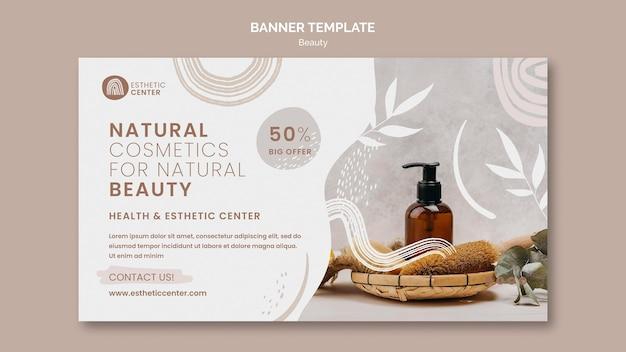 Modèle de bannière de beauté