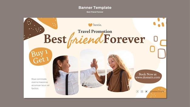 Modèle de bannière best friends forever
