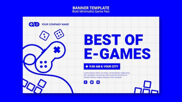Modèle de bannière best of e-games games jam fest