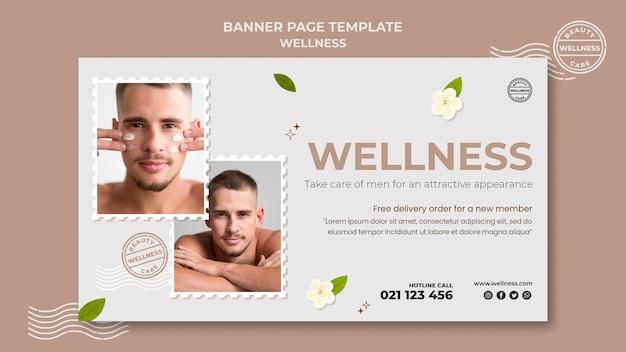Modèle de bannière de bien-être avec photo