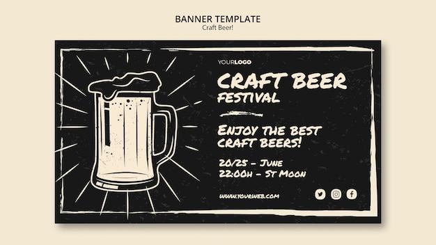 Modèle de bannière de bière artisanale