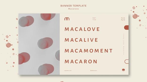 Modèle de bannière de boutique de macarons